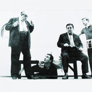 """""""Umbra"""" regia David Esrig, 1963, Nicolae Gărdescu, Gheorghe Dinică, Florin Scărlătescu, Dumitru Chesa"""