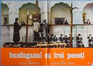 Afișul filmului Buzduganul cu trei peceți, regia Constantin Vaeni Sursa: https://www.cinemagia.ro/filme/buzduganul-cu-trei-peceti-2529/postere/3018785/
