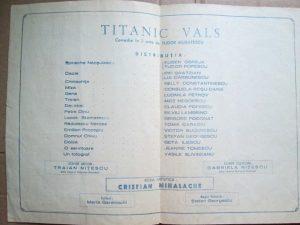 Foaie distributie Titanic vals