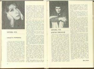 Maria Marin, Viitorul rol în Revista Teatrul nr. 6/1976, p. 55