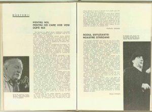 Anul 1969, Teatrul, nr. 8, CARAGIU, Toma (autor), Mărturii: Rodul entuziastei noastre strădanii, pag.43–43