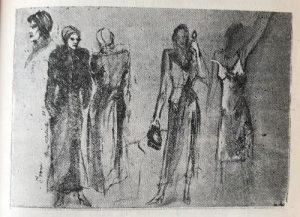 Schițe de costum pentru personajul Ivona - Liliana Manțoc