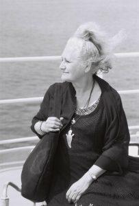 Catalina Buzoianu pe vapor foto Tudor Predescu