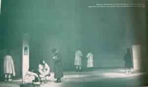 Olga Tudorache in Baltagul, regia Radu Penciulescu, Teatrul Mic, 1968
