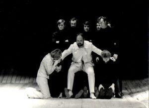 Regele Lear, regia Radu Penciulescu cu George Constantin, colecția TNB, autor Ion Miclea, arhiva TNB, 1970