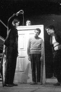 Virgil Ogasanu, Stefan Banica, Mihai Paladescu, Toma Caragiu in Revizorul, arhiva Teatrului Bulandra
