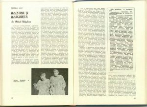 Cronica Maestrul si Margareta, regia Catalina Buzoianu, rev Teatrul