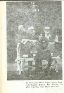 A douasprezecea – imagine din spectacolul A douăsprezecea noapte, Teatrul Naţional 'Lucian Blaga' - Cluj-Napoca – 14.01.1975, sursa foto: Revista Teatrul nr. 2/1975, pp. 63-65