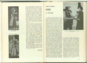 """Mira Iosif, Cronica dramatică : """"Trei fraţi gemeni veneţieni"""" de A. Matiuzzi, zis Collalto (Teatrul Naţional """"I. L. Caragiale)"""" în revista Teatrul nr. 6/1973"""