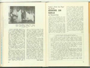 Ileana Popovici, Cronica dramatică: Gaiţele de Al. Kiriţescu, Maşina de scris de J. Cocteau (Teatrul de Stat din Turda) în Revista Teatrul, Nr. 7/1972, pp. 48-50