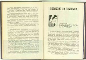 Dialoguri despre teatru cu Radu Beligan, Revista Teatrul nr. 5/1959
