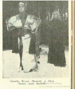 Macbeth – imagine din spectacolul Macbeth Teatrul, 'Toma Caragiu' - Ploieşti – 28.03.1976, sursa foto: Revista Teatrul nr. 5/1976, pp. 43-45