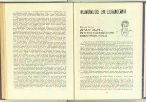 George Vraca – în cîteva mărturii despre contemporaneitate, Revista Teatrul nr. 6/1959