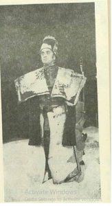 Macbeth Corneliu Revent – imagine din spectacolul Macbeth Teatrul, 'Toma Caragiu' - Ploieşti – 28.03.1976, sursa foto: Revista Teatrul nr. 8/1976, p. 11