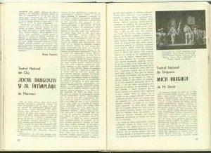 """Mira Iosif, Cronica dramatică: """"Jocul dragostei şi al întîmplării"""" de Marivaux (Teatrul Naţional din Cluj) în Revista Teatrul, nr. 11/1973, pp. 54-55"""