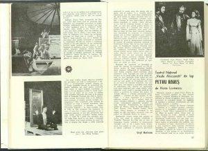 """Virgil Munteanu, Cronica dramatică: """"Singurătatea trăgătorului la ţintă"""" de Vasile Rebreanu şi Mircea Zaciu, """"Povestea unui ghicitor, şi-a bogătaşului furat, şi-a hoţului păgubitor, şi-a văduvei de lăudat"""" (Teatrul Naţional din Cluj) în Revista Teatrul, Nr. 1/1974, pp. 34-36"""