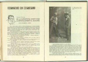 De la cupletistul Sandy-Huşi la artistul emerit Alexandru Giugaru, Revista Teatrul nr. 8/1959