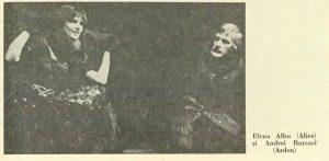 Kent – imagine din spectacolul Arden din Kent, Teatrul 'Toma Caragiu' - Ploieşti – 04.03.1978, sursa foto: Revista Teatrul nr. 4/1978, pp. 43-44