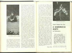 """Virgil Munteanu, Cronica dramatică: """"A douăsprezecea noapte"""" de Shakespeare (Teatrul Naţional din Cluj) în Revista Teatrul nr. 2/1975, pp. 63-65"""