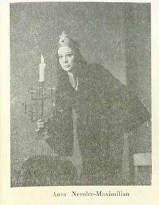 Fedra – imagine din spectacolul Fedra, Teatrul 'Radu Stanca' - Sibiu – 05.10.1978, sursa foto: Revista Teatrul, Nr. 1/1979, pp. 46-47