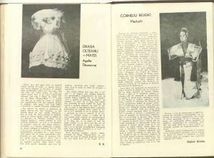 Vladimir Brânduș, Actori şi roluri - Corneliu Revent: Macbeth în Revista Teatrul nr. 8/1976, p. 11