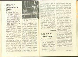 """Virgil Munteanu, Cronica dramatică: """"Cotele apelor Dunării"""" de Valentin Munteanu (Teatrul de Stat din Turda), Revista Teatrul, Nr. 10/1977, pp. 58-59"""