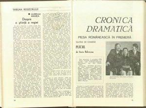 Aureliu Manea, Despre o ştiinţă a regiei în Revista Teatrul, Nr. 10/1976, p. 50