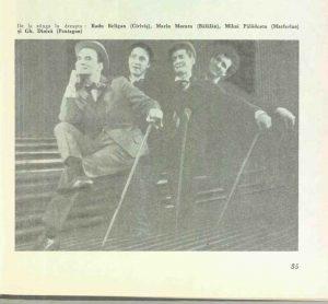 Imagini din spectacolul Capul de răţoi de George Ciprian- Teatrul de Comedie Bucureşti, data premierei: 27.04.1966