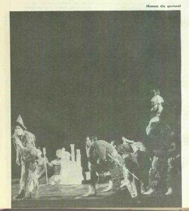 Secvență din spectacolul Troilus şi Cresida de William Shakespeare - Teatrul de Comedie Bucureşti, data premierei: 20.03.1965