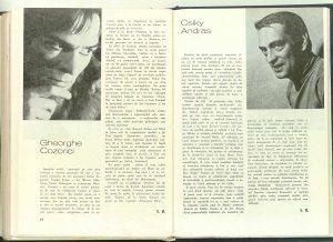 V. M., Actorii noștri în revista Teatrul nr. 8/1974, p. 49