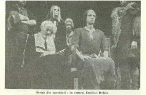 Execuție – imagine din spectacolul Execuţia se repetă, Teatrul Naţional 'Lucian Blaga' - Cluj-Napoca – 10.11.1984, sursa foto: Revista Teatrul nr. 12/1984, pp. 62-64