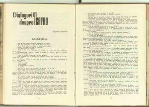 Carneţelul, Revista Teatrul, nr. 11/1960