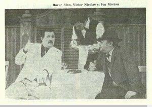 Sub clar – imagine din spectacolul Sub clar de lună, Teatrul Naţional 'Lucian Blaga' - Cluj-Napoca -30.01.1986, sursa foto: Revista Teatrul Nr. 6/1986, pp. 55-59