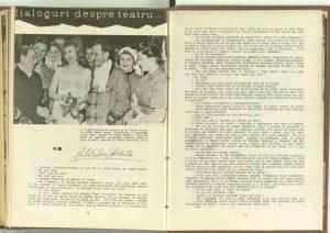 Dialoguri despre teatru cu Ştefan Mihăilescu-Brăila, Revista Teatrul, nr. 12/1960