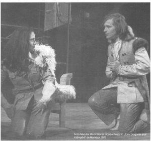 imagine din spectacolul Jocul dragostei şi al întîmplării, Teatrul Naţional 'Lucian Blaga' - Cluj-Napoca – 26.05.1973, sursa foto: Revista Teatrul azi, Nr. 1, 2/1999, p. 26