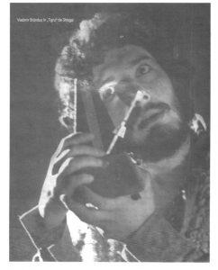 Tigrul – imagine din spectacolul Tigrul, Teatrul Municipal - Turda -06.06.1971, sursa foto: Revista Teatrul azi, Nr. 1, 2/1999, p. 38