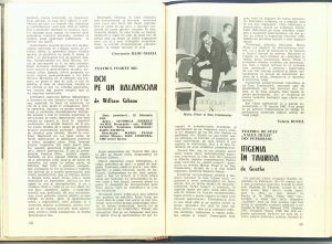 """Constantin Paraschivescu, Cronica dramatică: """"Ifigenia în Taurida"""" de Goethe (Teatrul de Stat """"Valea Jiului"""" din Petroşani) în Revista Teatrul nr. 4/1982, pp. 53-55"""