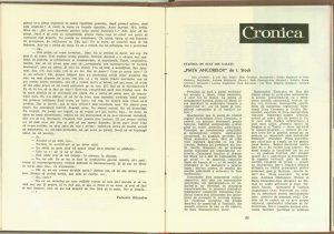 Dialoguri despre teatru… monologate, Revista Teatrul nr. 7/1961