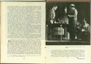 """Cum vorbeşte spectacolul limba piesei ? (Trei reprezentaţii diferite cu """"Celebrul 702""""), Revista Teatrul nr. 8/1961"""