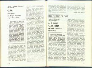 """Paul Cornel Chitic, Cronica dramatică: """"A doua conştiinţă"""" de Barbu Ştefănescu Delavrancea (Teatrul Naţional din Cluj-Napoca) în Revista Teatrul, nr. 10,11/1984, pp. 81-82"""