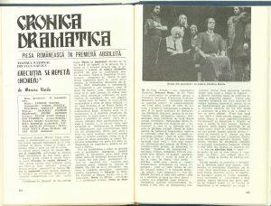 """Constantin Paraschivescu, Cronica dramatică: """"Execuţia se repetă (Horea)"""" de Mircea Vaida (Teatrul Naţional din Cluj-Napoca) în Revista Teatrul nr. 12/1984, pp. 62-64"""