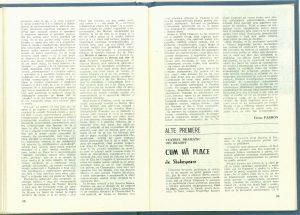 """Victor Parhon, Cronica dramatică: """"Sub clar de lună"""" de Teodor Mazilu (Teatrul Naţional din Cluj-Napoca) în Revista Teatrul Nr. 6/1986, pp. 55-59"""