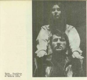 Anotimpurile – imagine din spectacolul Anotimpurile, Teatrul Naţional 'Mihai Eminescu' - Timişoara – 30.01.1969, sursă foto: Revista Teatrul Nr. 4/1969, pp. 79-82