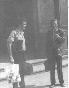 fotografie Aureliu Manea și George Banu, sursa foto: Revista Teatrul azi, Nr. 1, 2/1999, p. 26