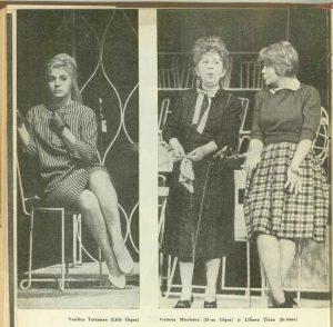 Imagine din spectacolul Mi se pare romantic de Radu Cosașu- Teatrul de Comedie Bucureşti, data premierei: 18.10.1961