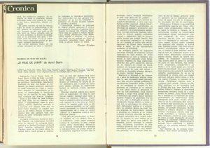"""Valeria Ducea, Cronica la """"O felie de lună"""" de Aurel Storin (Teatrul de Stat din Bacău) în revista Teatrul nr. 4/1963"""