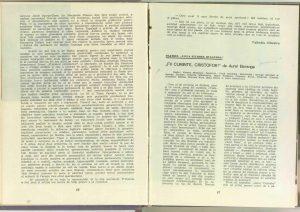 """Un dialog posibil despre """"Opera de trei parale"""" de Bertolt Brecht (Premieră la Teatrul """"Lucia Sturdza Bulandra""""), Revista Teatrul nr. 1/1965"""