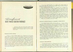 Răsfoind vechi reviste teatrale româneşti, Revista Teatrul nr. 7/1966