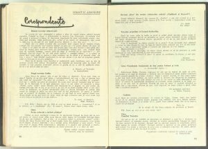 Corespondenţe, Revista Teatrul nr. 4/1967