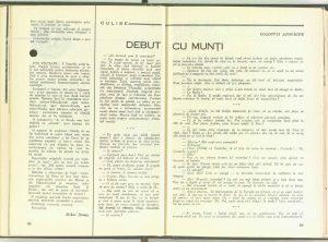 Debut cu munţi, Revista Teatrul nr. 6/1967